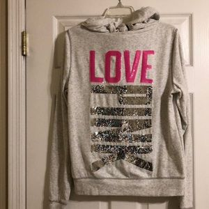 VS Pink Collection Bling Zip Hoodie